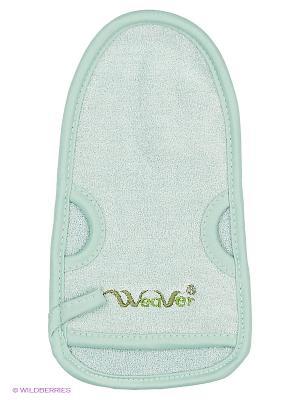 Мочалка для лица с экстрактом зеленого чая YURIMOTO NATURAL ANTI-ACNE EFFECT BEAUTY FACE Satico. Цвет: бирюзовый