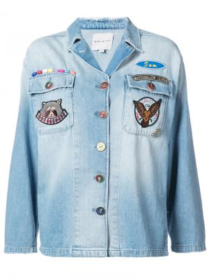 Mulit-patch denim overshirt Mira Mikati. Цвет: синий