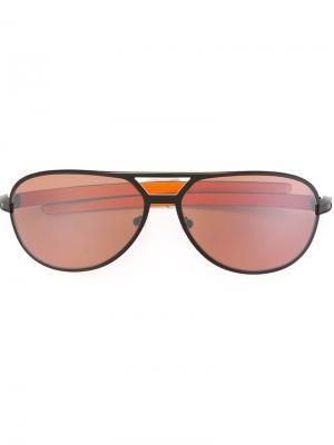 Солнцезащитные очки Tag Heuer. Цвет: чёрный