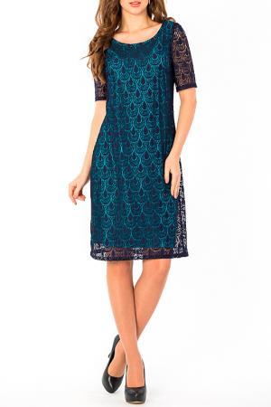Платье S&A style. Цвет: бирюзово-синий