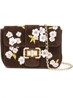 Маленькая сумка на плечо Bianca Monique Lhuillier. Цвет: коричневый