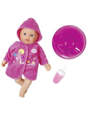 Игрушка my little BABY born Кукла быстросохнущая с горшком и бутылочкой, 32 см, дисплей ZAPF. Цвет: розовый