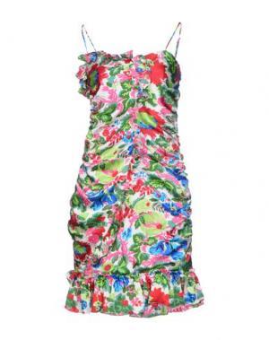 Короткое платье BEA. Цвет: зеленый