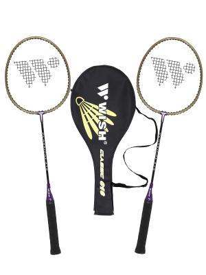 Набор для бадминтона Classic 316 (2 ракетки), фиолетовый WISH. Цвет: фиолетовый