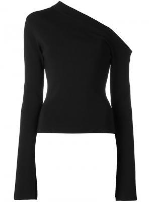 Блузка с открытым плечом Kelsey Solace. Цвет: чёрный