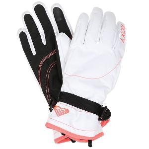 Перчатки женские  Jetty Bright White Roxy. Цвет: белый