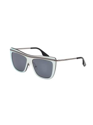 Солнцезащитные очки McQueen. Цвет: серебристый
