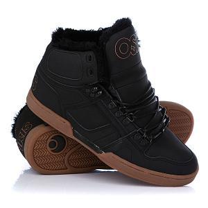 Кеды кроссовки утепленные  Nyc 83 Shr Black/Black/Gum Osiris. Цвет: черный