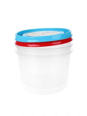 Контейнер пластиковый - 2 шт., 1 л. Migura. Цвет: красный, синий