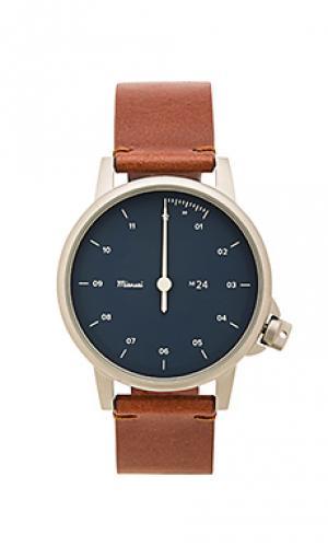 Часы m24 Miansai. Цвет: коричневый