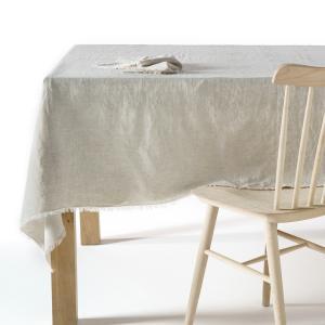Скатерть из стиранного льна, Yastigi AM.PM.. Цвет: белый,серо-бежевый