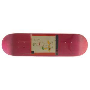 Дека для скейтборда  sss 1 Pink 32 x 8 (20.3 см) Absurd. Цвет: розовый,мультиколор