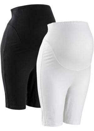 Мода для беременных: облегающие шорты (черный + белый) bonprix. Цвет: черный + белый