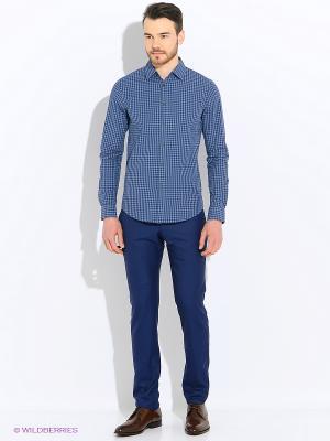 Рубашка Sisley. Цвет: синий, горчичный