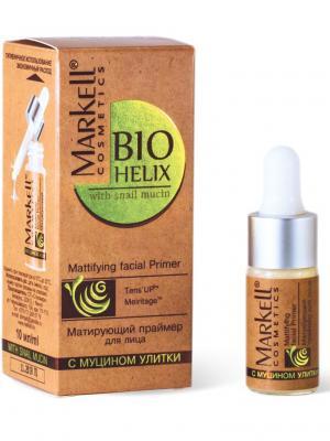 Bio-helix Матирующий праймер для лица, 10 мл. Markell. Цвет: прозрачный