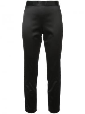 Строгие брюки скинни Rosetta Getty. Цвет: чёрный