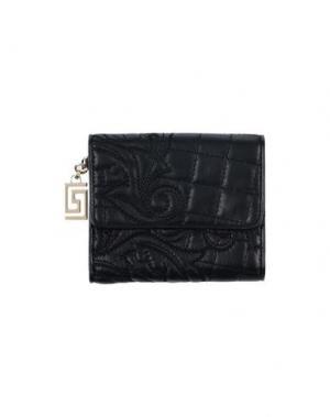 Бумажник GIANNI VERSACE. Цвет: черный