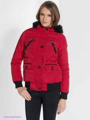 Куртка Bellfield. Цвет: красный