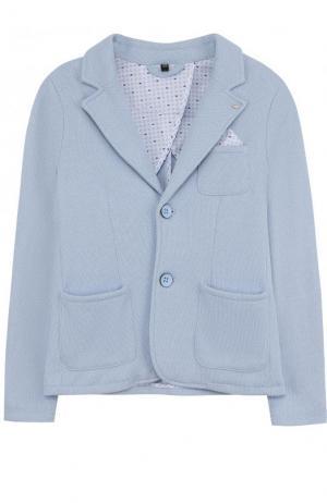 Однобортный пиджак джерси Armani Junior. Цвет: голубой