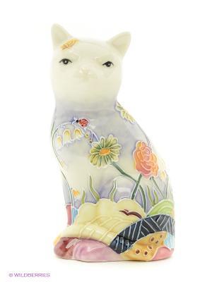 Фигурка Кошка (Pavone) Pavone. Цвет: молочный, фиолетовый