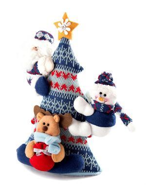 Новогодняя композиция С Новым Годом Русские подарки. Цвет: белый, синий
