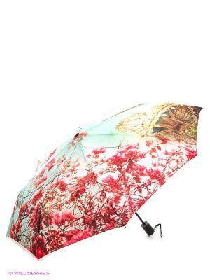 Зонт RAINDROPS. Цвет: салатовый, розовый