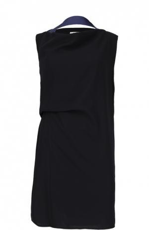 Прямое платье с контрастной отделкой Acne Studios. Цвет: синий