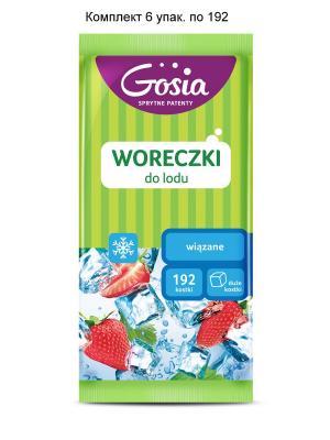 Комплект 6х192 кубиков Пакетики для льда  GOSIA, 0199/4203 Politan. Цвет: голубой