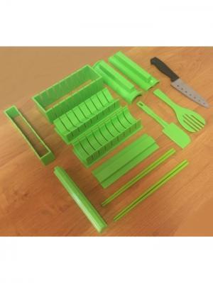 Набор для приготовления роллов Суши RUGES. Цвет: светло-зеленый