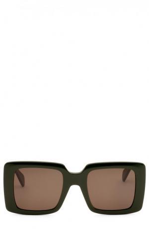 Солнцезащитные очки Céline Eyewear. Цвет: зеленый