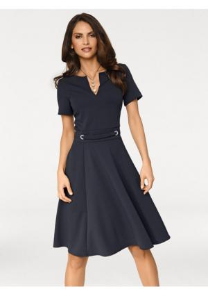 Платье Ashley Brooke. Цвет: темно-синий