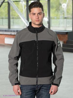 Куртка Alpha Industries. Цвет: черный, серый