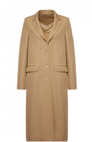Пальто прямого кроя с узкими лацканами Acne Studios. Цвет: бежевый