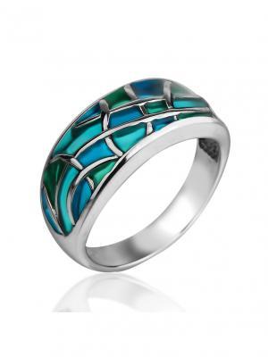 Кольцо Витражи морские KU&KU. Цвет: серебристый