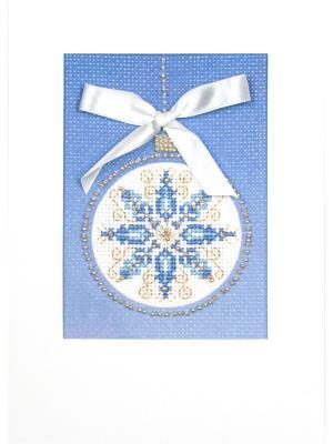 Набор для создания открытки Снежный узор Матренин Посад. Цвет: голубой, белый