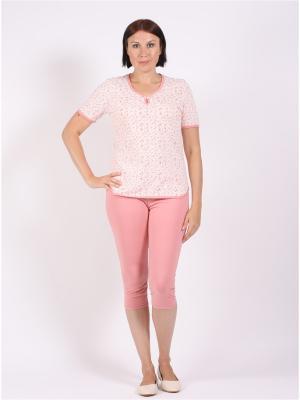 Пижама COTTONLAB. Цвет: бледно-розовый, розовый