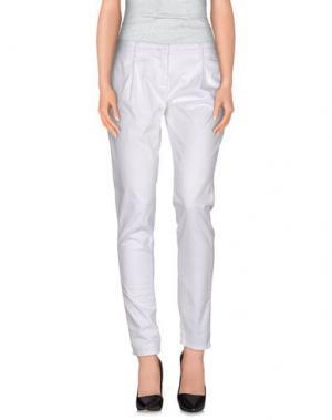 Повседневные брюки UZÈS. Цвет: белый