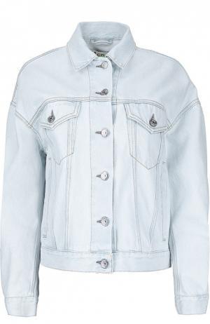 Джинсовая куртка свободного кроя Acne Studios. Цвет: голубой