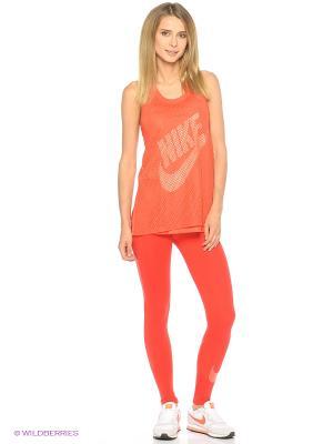 Леггинсы W NSW LGGNG CLUB LOGO2 Nike. Цвет: красный