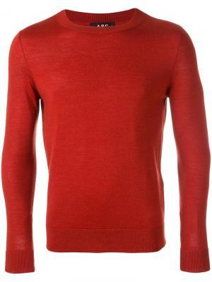Джемпер с круглым вырезом A.P.C.. Цвет: красный