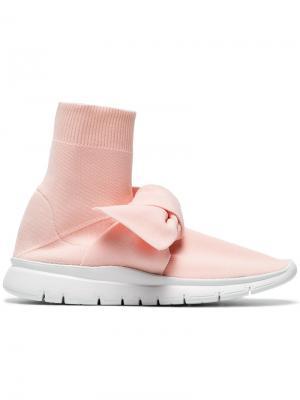 Кроссовки Sock Knot Joshua Sanders. Цвет: розовый и фиолетовый