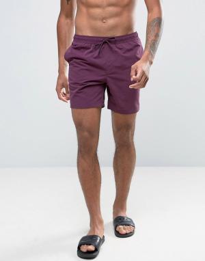 ASOS Фиолетовые шорты для плавания средней длины. Цвет: фиолетовый