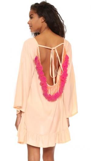 Короткое пляжное платье Indiana Basic SUNDRESS. Цвет: коралловый/неоновый коралловый