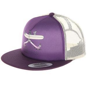 Бейсболка с сеткой  Pop Trucker Hat Deep Purple Nixon. Цвет: фиолетовый,бежевый