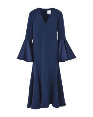 Платье длиной 3/4 EDIT. Цвет: темно-синий