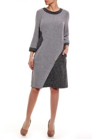 Платье VitoFashion. Цвет: серый
