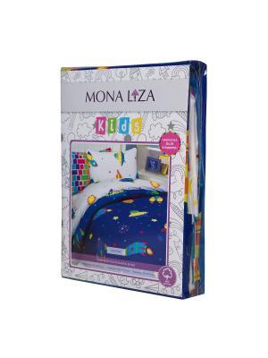 Комплект постельного белья Mona Liza Kids Космос. Цвет: синий, белый, светло-оранжевый