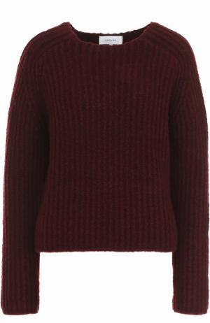 Шерстяной свитер фактурной вязки Carven. Цвет: бордовый