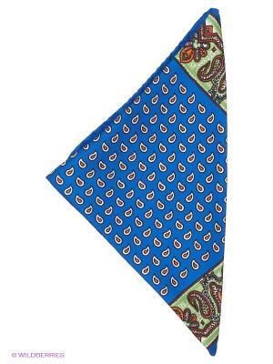 Платок-паше Troy collezione. Цвет: синий, светло-зеленый