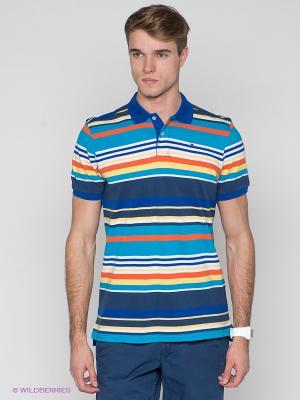 Футболки-поло Men of all nations. Цвет: синий, лазурный, оранжевый, желтый